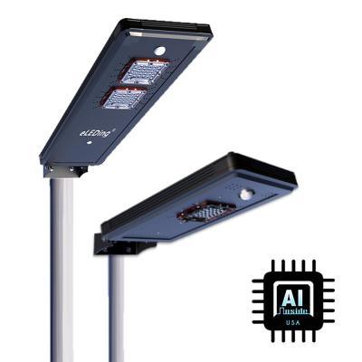 AI8 Solar Power Dusk to Dawn Black Aluminum Outdoor Integrated LED AI-Smart Sensing Cree Area Path Parking Light