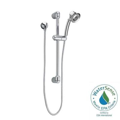 FloWise Transitional 1-Spray Wall Bar Shower Kit in Polished Chrome Product Photo