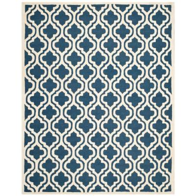 Cambridge Navy/Ivory 11 ft. 6 in. x 16 ft. Area Rug