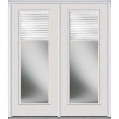 64 in. x 80 in. Classic Clear Low-E Glass Fiberglass Smooth Prehung Right-Hand Inswing RLB Patio Door Product Photo