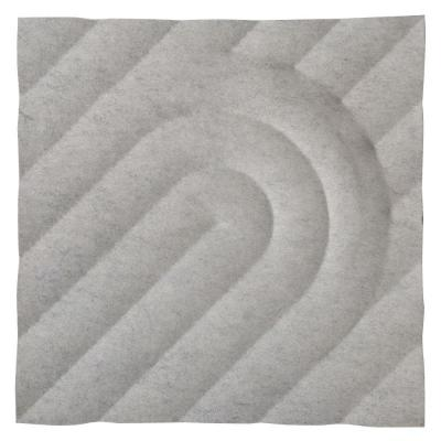 FeltForms 24 in. W x 24 in. L x 2 in. H White Acoustic Insulation Deco Panels (4-Pack) Product Photo