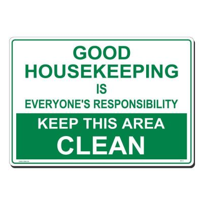 20 in. x 14 in. Green on White Plastic Good Housekeeping