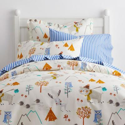 Forest Campers 200-Thread Count Organic Cotton Percale Duvet Cover