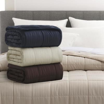 Plush Fleece Down Alternative Blue Blanket