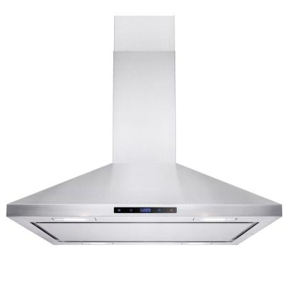 36 in. Island Mount Convertible Kitchen Range Hood in Stainless Steel