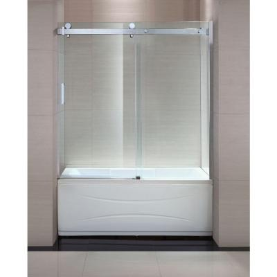 Schon Judy 60 In X 59 In Semi Framed Sliding Trackless Tub And Shower Door
