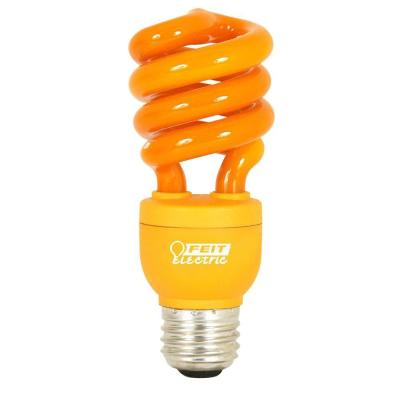 Feit Electric 60W Equivalent Orange Spiral CFL Light Bulb
