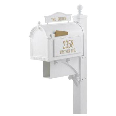 Ultimate White Streetside Mailbox Product Photo
