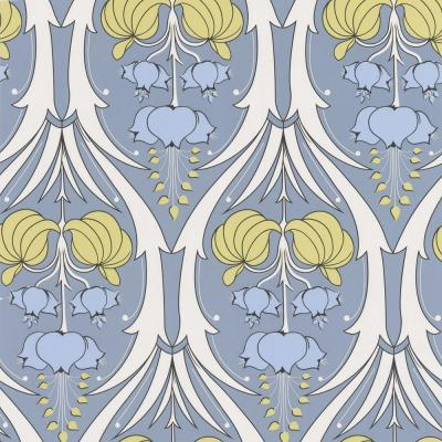 Graham & Brown 56 sq. ft. Passion Lily Blue Wallpaper