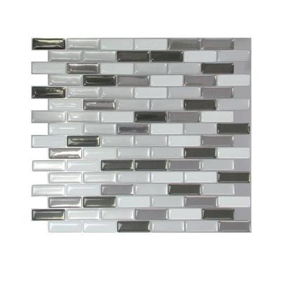 colored metallic mosaic peel and stick decorative wall tile in murano