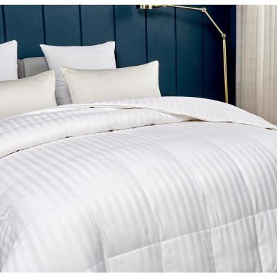 350 Thread Count White Damask Down Alternative Comforter