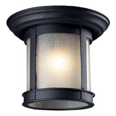 Tulen Lawrence Collection 1-Light Outdoor Black Flush Mount