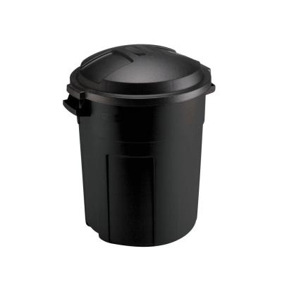 Rubbermaid Roughneck 20 Gal. Black Round Trash Can with Lid