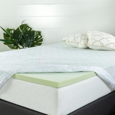 Green Tea Memory Foam Mattress Topper