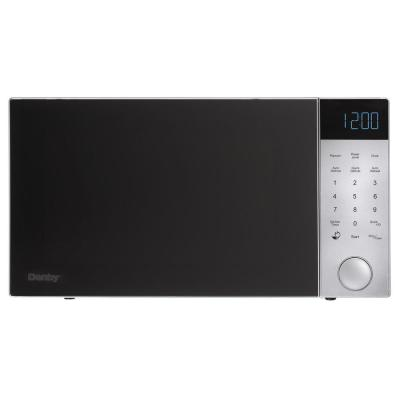 Danby 1.1 cu. ft. Countertop Microwave in Brushed Silver with Black Front