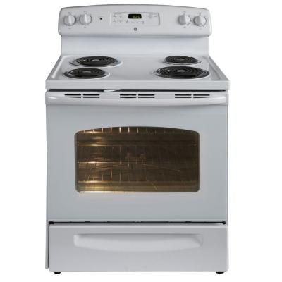 GE 5.3 cu. ft. Electric Range with Self-Cleaning Oven in White