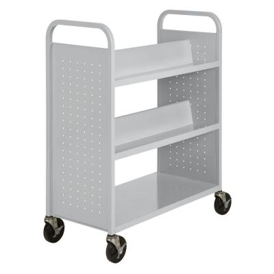 5-Shelf Booktruck in Dove Gray Product Photo