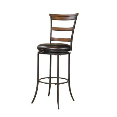 Hillsdale Furniture Cameron Swivel Ladder Back Counter Stool-DISCONTINUED
