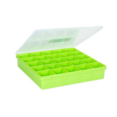 15 in. Square Organizer Box in Lime