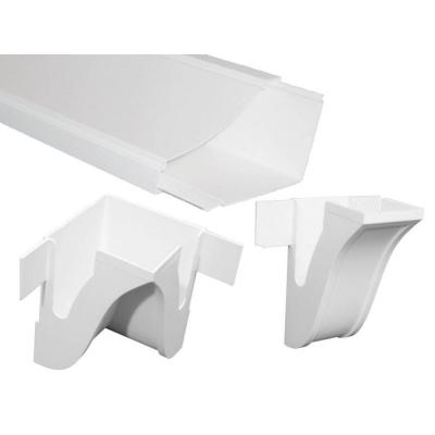 Malibu 8 ft. x 4-5/8 in. x 1/8 in. PVC Room-in-a-Box Crown Molding/Wire Raceway Product Photo
