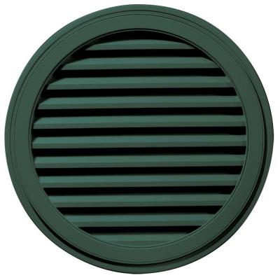36 in. Round Gable Vent in Forest Green Product Photo