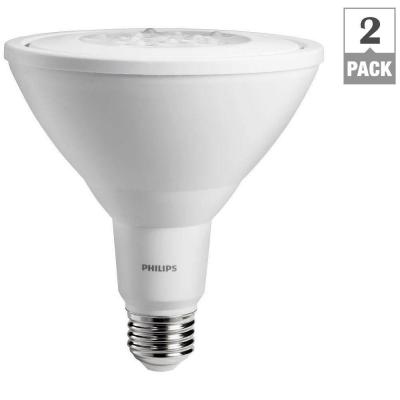 90W Equivalent Warm White PAR38 Non-Dimmable Ambient LED Flood Light Bulb (2-Pack) Product Photo