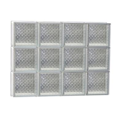 Clearly Secure 31 in. x 23.25 in. x 3.125 in. Non-Vented Diamond Pattern Glass Block Window
