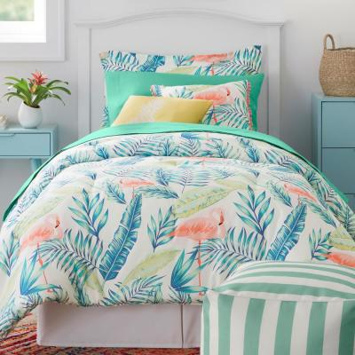 Marisol Tropical Palms Bed in a Bag Comforter Set with Sheets and Decorative Pillows