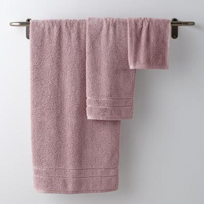 3-Piece Solid Cotton Bath Towel Set