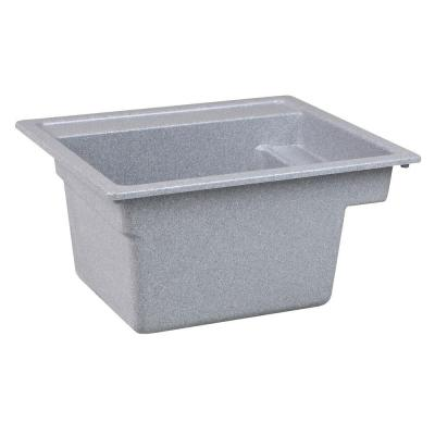 MUSTEE Vector 22 in. x 25 in. Fiberglass Self-Rimming MultiTask Sink in Twilight