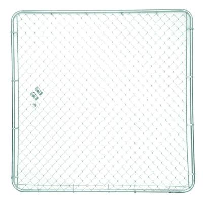 YARDGARD 6 ft. x 6 ft. Pre-Assembled Galvanized Steel Plain Kennel Panel