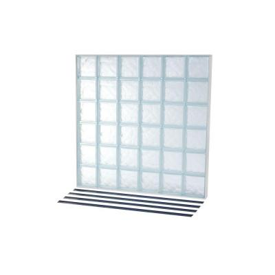 46.75 in. x 46.75 in. NailUp2 Ice Pattern Solid Glass Block