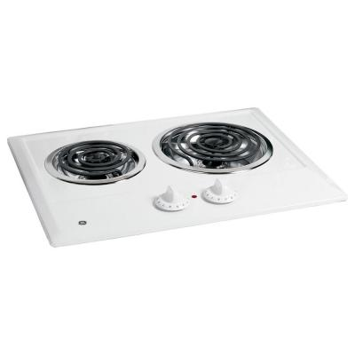 GE 21 in. Coil Electric Cooktop in White...