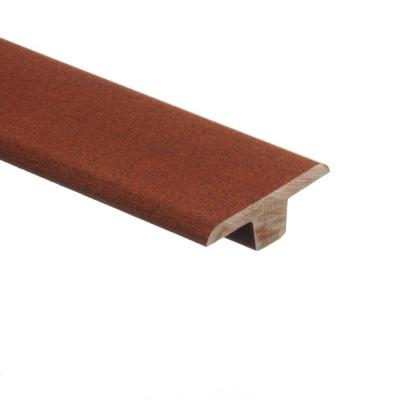 Tigerwood 3/8 in. Thick x 1-3/4 in. Wide x 94 in. Length Hardwood T-Molding Product Photo
