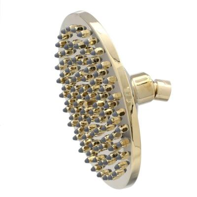 Pegasus Sunflower 1-Spray 8 in. Showerhead with Easy Clean Jets in Polished Brass