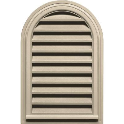 22 in. x 32 in. Round Top Gable Vent in Almond Product Photo