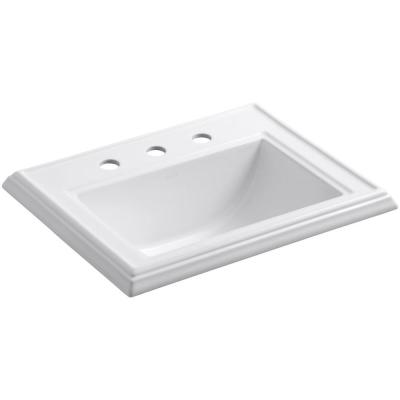 KOHLER Memoirs Classic Drop-In Vitreous China Bathroom Sink in White with Overflow Drain