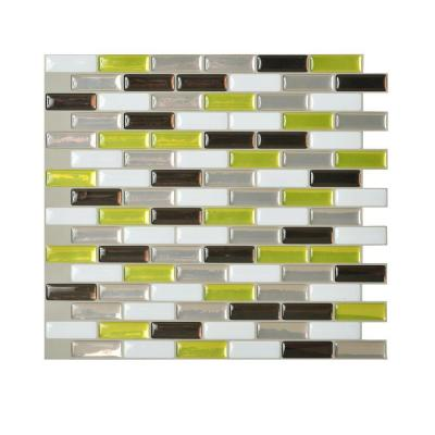 Smart Tiles Murano Verde 10 20 In W X 9 10 In H Peel And Stick Decorative Mosaic Wall Tile Backsplash Sm1058 1 The Home Depot