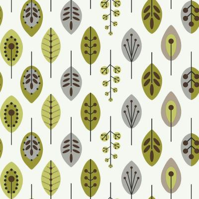 56 sq. ft. Retro Leaves Wallpaper Product Photo