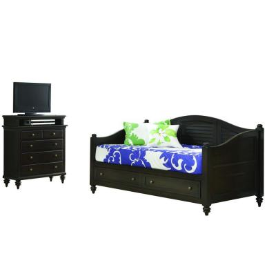 Home Styles Bermuda Espresso Finish Daybed and TV Media Chest
