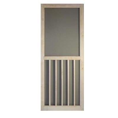 31.75 in. x 79.75 in. 5-Bar Stainable Screen Door Product Photo