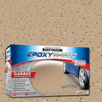 Rust-Oleum EpoxyShield 1 gal. Tan High-Gloss Low VOC One Car Garage Floor Kit (Case of 2)