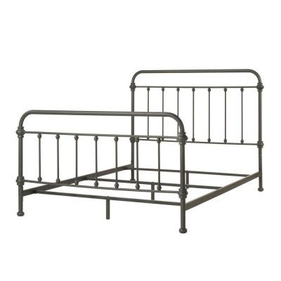Calabria Metal Queen-Size Standard Bed in Grey Product Photo