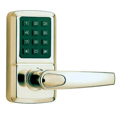Lifetime Brass Digital Lever with Milton Right-Hand