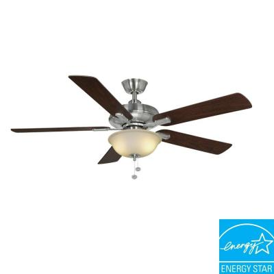 Hampton Bay Larson 52 in. Brushed Nickel Ceiling Fan