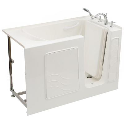 Universal Tubs 4.5 ft. Right Drain Soaking Walk-In Bathtub in White