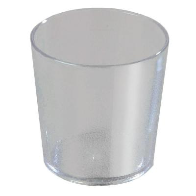 9 oz. SAN Plastic Stackable Old Fashion Tumbler in Clear (Case