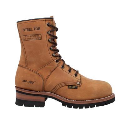 Men's Crazy Horse 9'' Logger Boot - Steel Toe