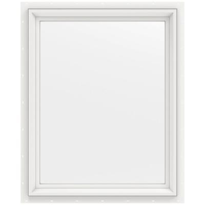 23.5 in. x 29.5 in. V-2500 Series Fixed Picture Vinyl Window - White Product Photo