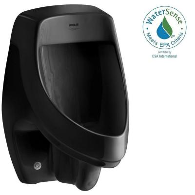 Dexter 0.5 or 1.0 GPF Urinal with Rear Spud in Black